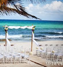 cancun all inclusive stylish beach wedding ceremony set up