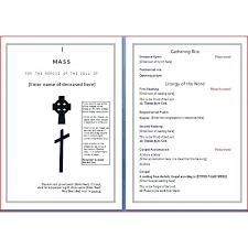 Download Funeral Program Template Free Editable Funeral Program