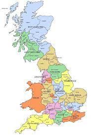 خريطة كبيرة في المملكة المتحدة - خريطة كبيرة من بريطانيا العظمى (شمال  أوروبا - أوروبا)