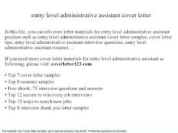 Cover Letter For Medical Office Assistant Entry Level Office