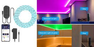 Light Strips That Work With Alexa Enjoy Alexa Assistant Control W This Smart Rgb Led Light