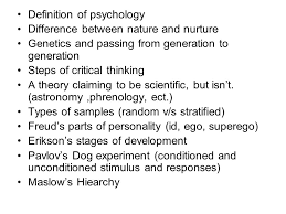 Chapter   Psychology  An Overview  Objectives     The Science of