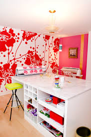 beautiful bright office. Bright And Beautiful Craft Room Contemporary-home-office Office