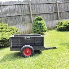 craftsman rubbermaid garden cart