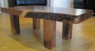 custom made walnut slab coffee table