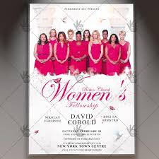 church invitation flyers womens fellowship church premium flyer psd template psdmarket