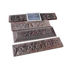 india impression carved wood wall panel