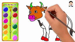 Vẽ Con Bò - Học Vẽ Con Bò - Dạy Bé Tập Vẽ Và Tô Màu Con Bò Đẹp Nhất -  YouTube