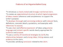 fsa writing overview ppt  features of an argumentative essay