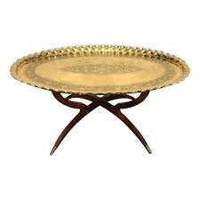 tray top coffee table image of round brass tray top coffee table