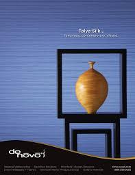 Magazine ad design Talya Silk for Denovo Wall in Interior Design Magazine