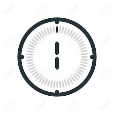 1 Minute Countdown The 1 Minute Icon Isolated On White Background Clock And Watch