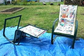 outdoor furniture painted