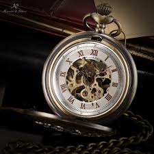 ks brand watches men stainless steel skeleton case steampunk watch explore mechanical pocket watch vintage men and more