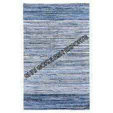 sge handwoven cotton denim rug