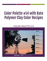 Kato Polyclay Polymer Clay Color Mixing Recipes For Color Palette 14