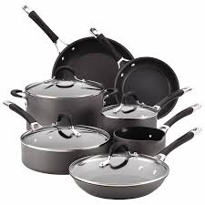 is anodized cookware safe. Contemporary Cookware Circulon Momentum Hard Anodized Cookware 11Piece Set With Is Safe L