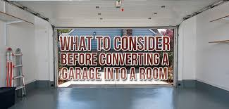converting a garage into a room what