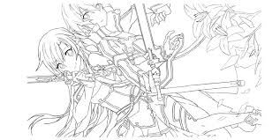 Anime Sao Coloring Pages Print Coloring