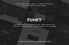 Funky Website Design Templates Funky Creative Multipurpose Bootstrap Template Funky Is A