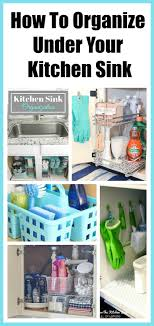 Under Kitchen Sink Organizing How To Organize Under The Kitchen Sink