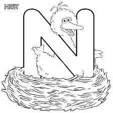 letter n coloring page n coloring sheet letter n learn letter n is for nest in letter n coloring