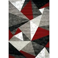 red and black area rugs studio triangles red gray black area rug reviews red black and