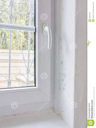 Feuchte Form Auf Wand Und Fenster Rahmen Stockbild Bild Von