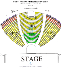 Zappos Theater Seating Chart Gwen Stefani Planet Hollywood Theater Of The Performing Arts Seating Chart
