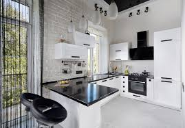 modern white kitchen. Modern Black And White Kitchen. I Think The Little Bit Of Is Just  Perfect Modern Kitchen