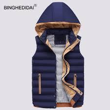 Mens Waistcoat Hooded Jacket Puffer Cotton Vest Coat Warm Quilted ... & Mens Waistcoat Hooded Jacket Puffer Cotton Vest Coat Warm Quilted Vest  Sleeveless Parka Corduroy Bomber Waistcoat Adamdwight.com