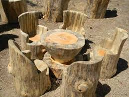 furniture made from tree trunks. beautiful rustic garden set furniture made from tree trunks l
