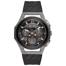 men s watches designer and swiss watches ernest jones bulova curv men s chronograph stainless steel strap watch product number 5239966