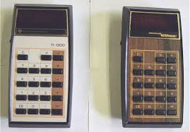 mark > s four function plus calculators 1 ti 1050 a slightly rarer member of the 1000 series 2 ti 1200 3 electronic wizard manufactured by ti this 1200 clone was distributed by western
