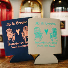 23 most creative wedding favor koozies ideas for your wedding Wedding Wine Koozies customized wedding koozies favor ideas for guests wedding wine koozies