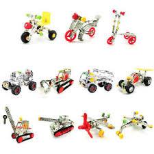 Details About Car Metal Diy Model Construction Set Educational Toy 3d Metal Models Blocks