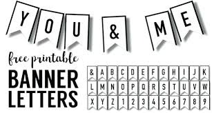 Printable Banners Templates Free Alphabet Cutouts For Letter Banner
