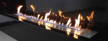 afire design long bio ethanol burner insert with remote control the high tech art of fire