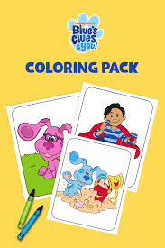 Find great coloring pages, amazing 3d paper crafts and more! Free Blue S Clues Printable Coloring Pages And Activities