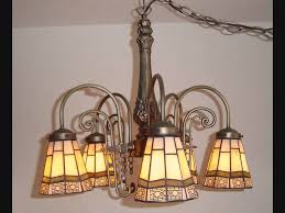 tiffany style 5 light antique finish stained glass hanging lamp for 2010