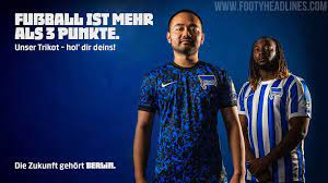 Die offizielle facebookseite von hertha bsc. Hertha Berlin 20 21 Home Away Kits Released No Main Sponsor Officially Since Yesterday Footy Headlines