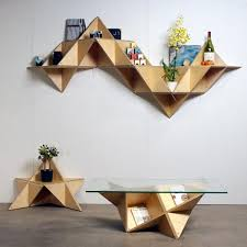 ... Geometric forms and shapes in modern interior design, unusual room  design ...