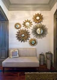 mirror wall decor for living room. using sunburst mirrors in your home decor mirror wall for living room