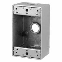 outdoor electrical outlet box cover. 17 cu in 1-gang new work metal outdoor electrical outlet box cover
