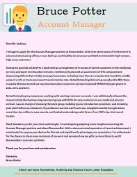 Cover Letter Sample For Supervisor Position Account Manager Cover Letter Example