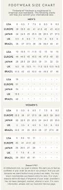 Timberland Boots Sizing Guide