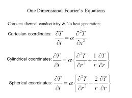 one dimensional fourier s equations