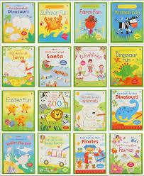 usborne colorful line children english drawing game book 16pcs per set