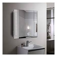 60 led light bathroom mirror cabinet shaver socket demister sensor galactic amazon co uk diy tools
