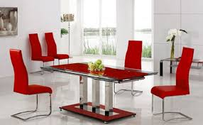 glass dining table with red leather chairs. dining room chairs red delectable inspiration amazing design cosy furniture set with glass top table leather u